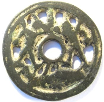 Open work charm depicting a battle between the armies of Chu and Han