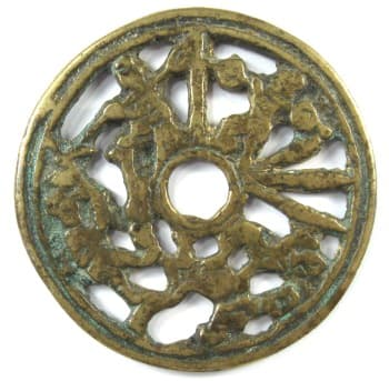Old Chinese Confucian charm depicting filial piety