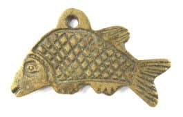 Reverse side of carp fish charm