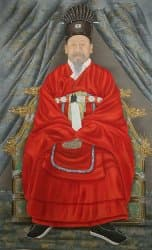 Portrait of King Gojong who                 became Korea's first emperor (Emperor Gwangmu)
