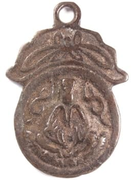 Guanyin Buddhist pendant charm cast in high relief