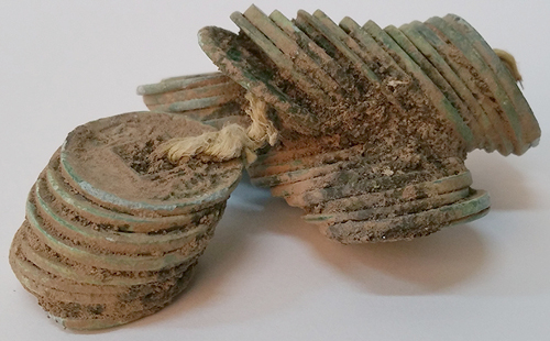 Chinese huo quan coins found in Korean tomb