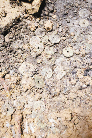 Only Song Dynasty coins have been found in this Ming Dynasty tomb