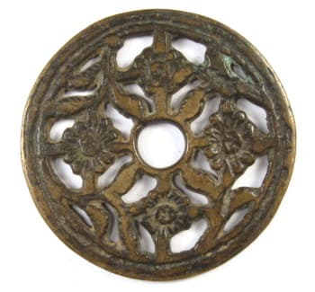 Another open works charm displaying four flowers