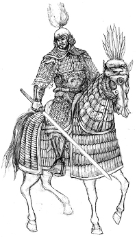 Illustration of horse armour from the Song Dynasty