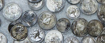 Chinese coins recovered from sunken WWII Japanese freighter