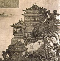 Song dynasty painting of the Pavilion of Prince Teng