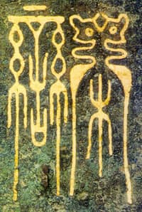 Bronze Dagger-Axe with Bird-Worm Seal Script Inscription
