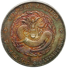 Reverse side of Yunnan Spring Dollar