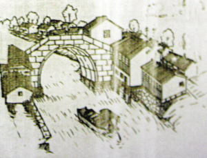 Zheng Lu Bridge illustrated in old book