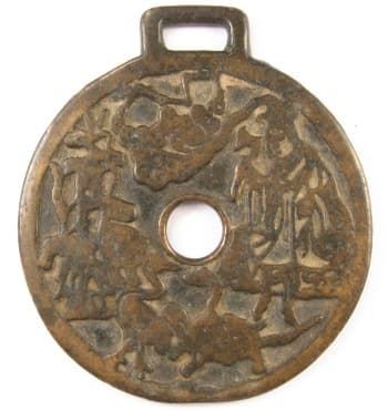 Daoist charm showing       Laozi and Zhang Daoling