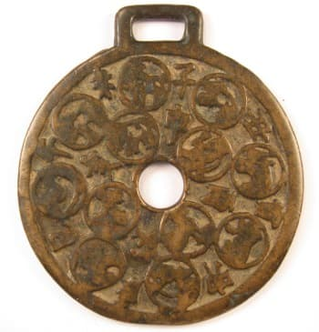 Chinese charm with zodiac animals and Earthly Branches